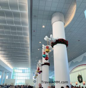 Port Canaveral decorated for the holidays