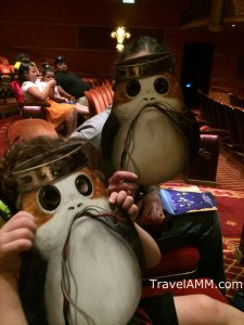 Porg Scavenger Hunt Masks on the front that turn into Clue Sheets on the back