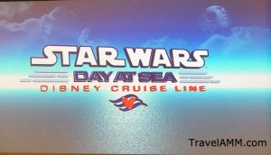 Star Wars Day at Sea sign Disney Cruise Line