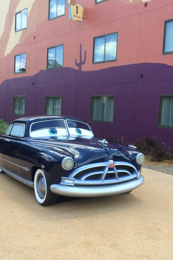 Doc Hudson statue at Disney's Art of Animation Resort