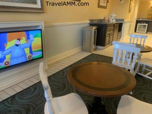 Kids seating area in the club lounge at Disney's Beach Club Resort