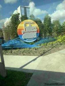 Universal's Endless Summer Resort exterior signage
