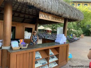 Pool services desk at Loews Royal Pacific Resort