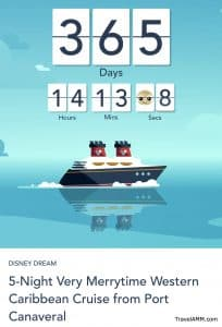 DCL Countdown Clock for sailing date